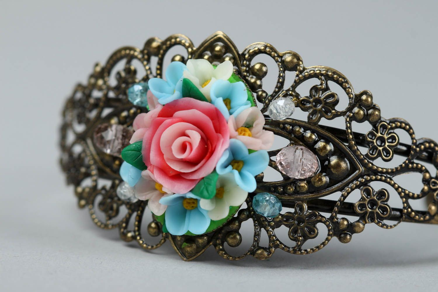 Bracelet made of polymer clay photo 2
