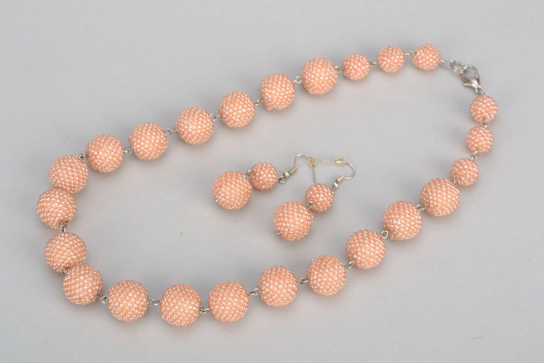 Beaded jewelry set photo 3