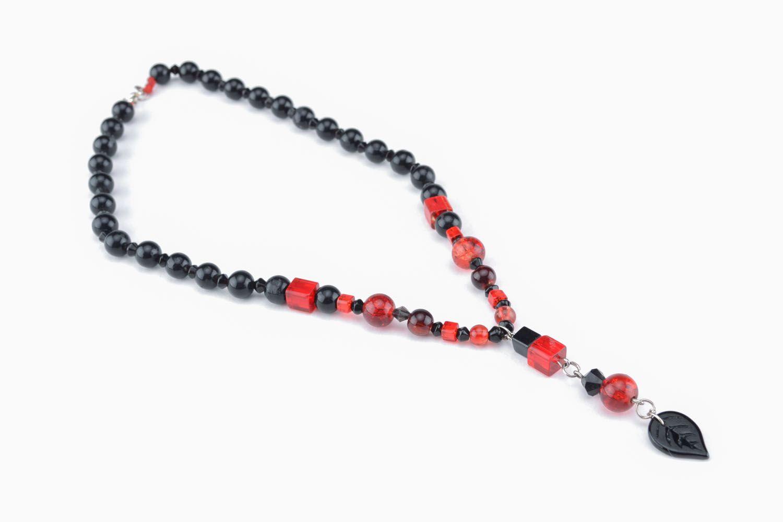 Homemade glass bead necklace photo 1