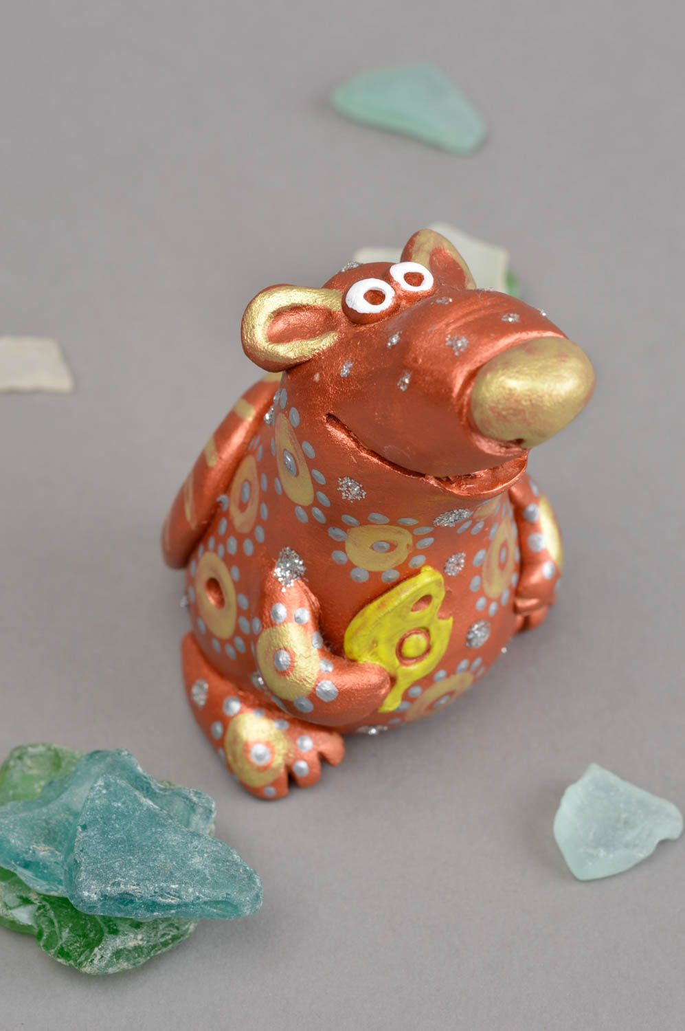 Clay whistle handmade ceramic figurine present for children clay animal whistle photo 1
