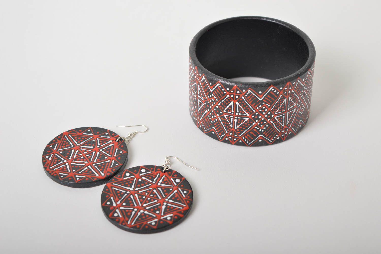Handmade lovely earrings stylish cute jewelry unusual designer bracelet  photo 3
