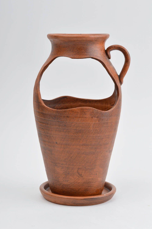 madeheart blumenk bel keramik handmade vase aus ton wohnzimmer deko blumen bertopf keramik. Black Bedroom Furniture Sets. Home Design Ideas