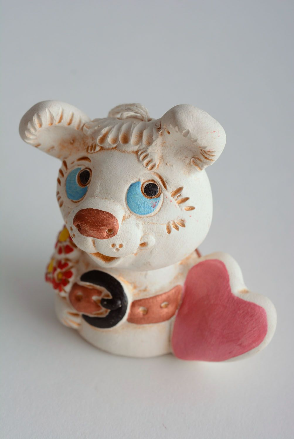 Clay bell Dog in Love photo 1