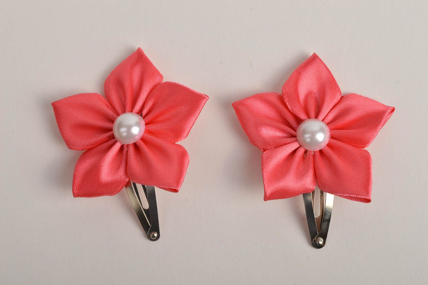 Beautiful handmade hair clip 2 pieces flowers in hair designer hair accessories photo 3
