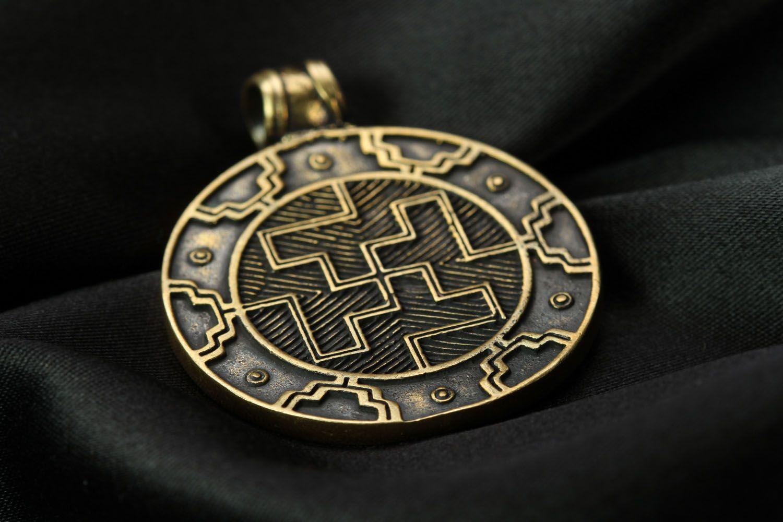 Bronze pendant Two-sided Solar photo 2