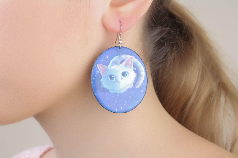 Homemade round earrings photo 5