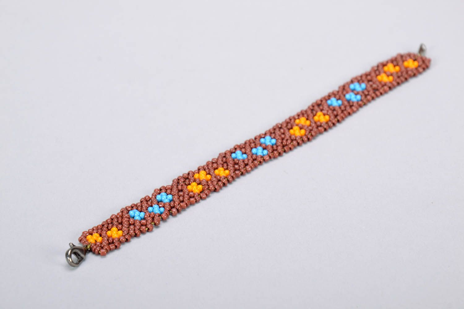 Woven beaded bracelet photo 4