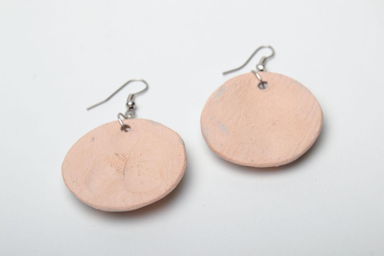dangle earrings Tender round ceramic earrings - MADEheart.com