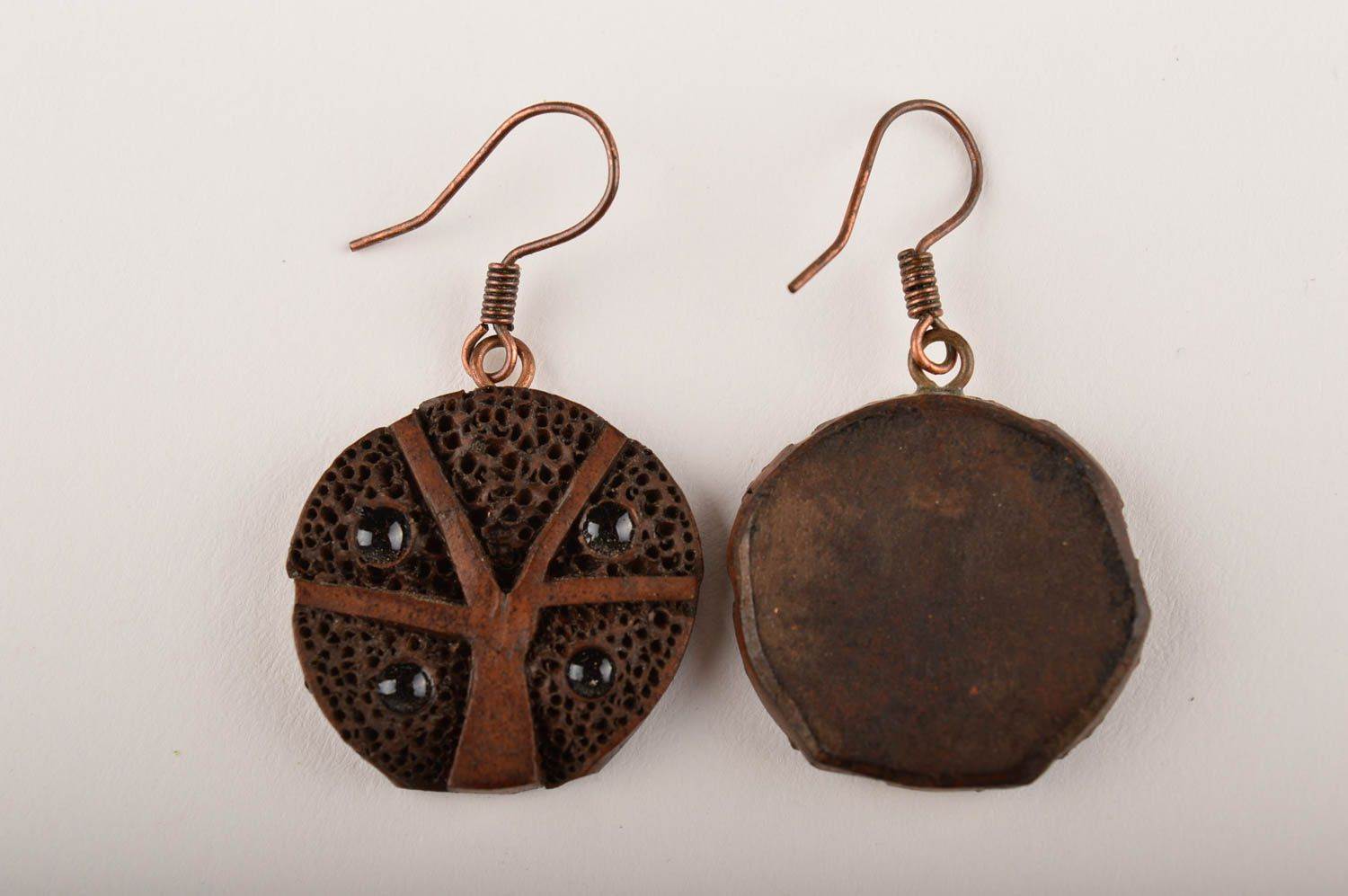 Ceramic jewelry handmade earrings gifts for women fashion accessories photo 3