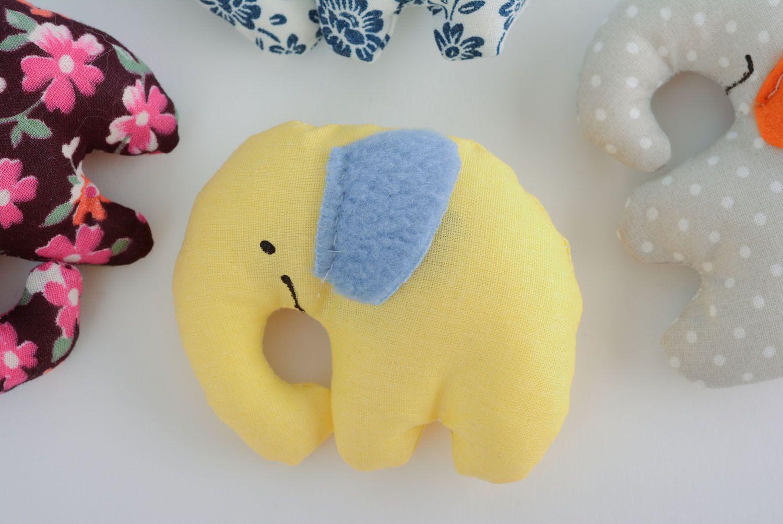 Textile toy Smiling Elephant photo 5