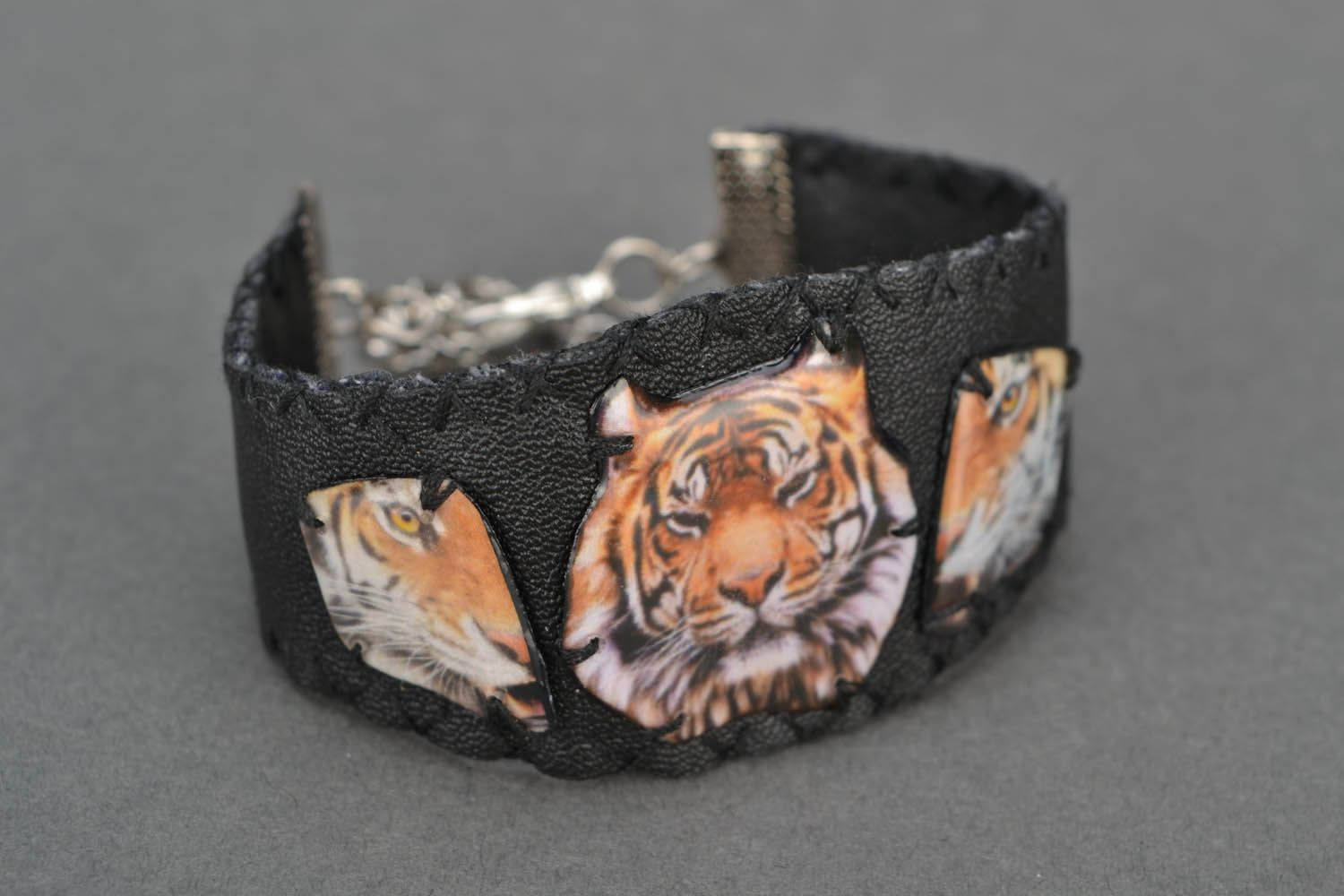 Wide bracelet Tiger Power photo 4