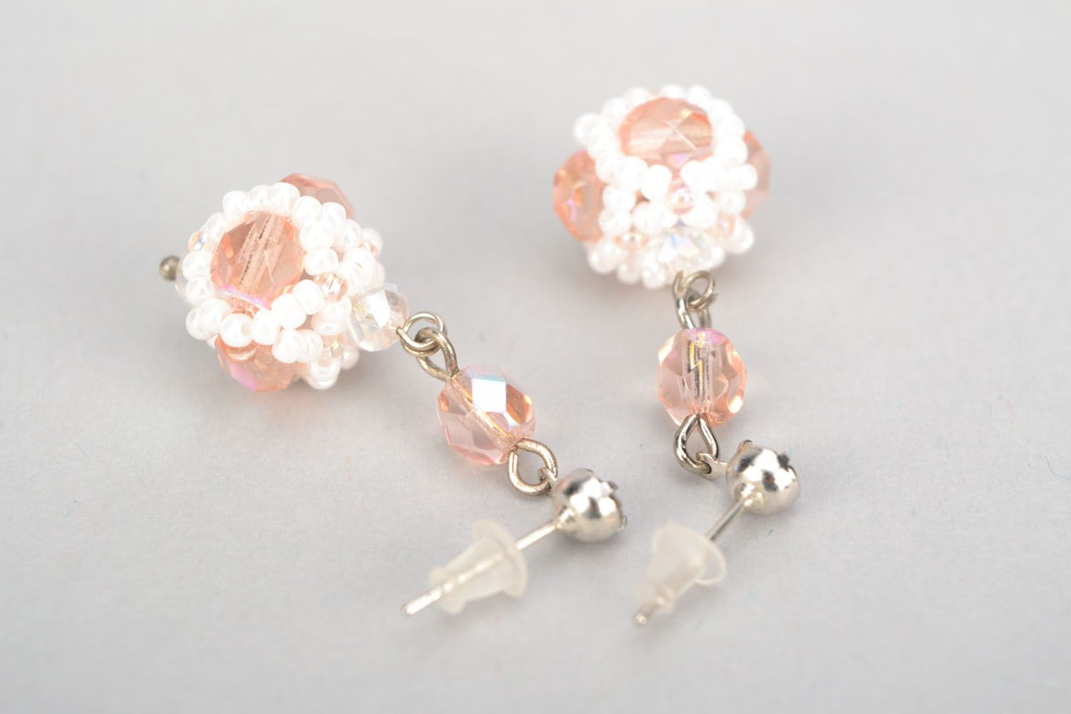 Long crystal earrings photo 4