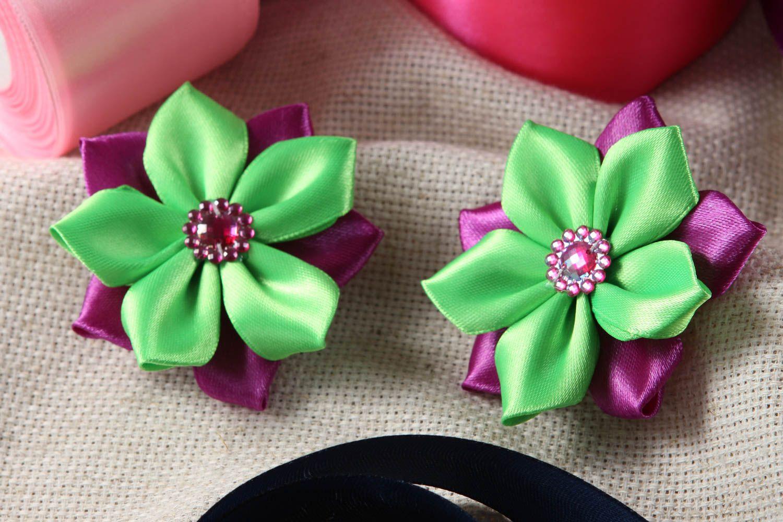 Handmade hair clip designer accessory for girls unusual gift flower hair clip photo 1