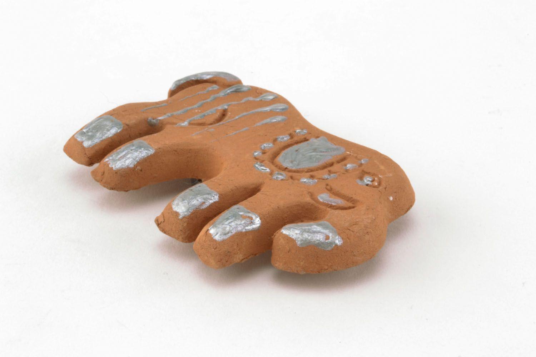 Clay fridge magnet in the shape of elephant photo 5