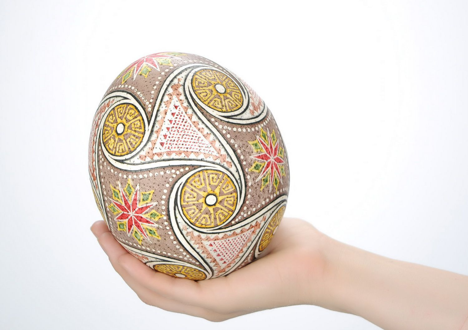 ostrich easter eggs Easter egg painted with hot wax