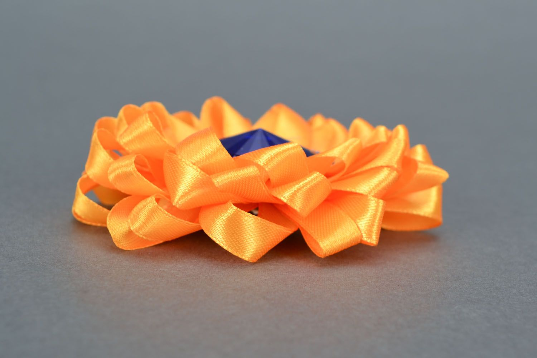 Orange Haarklemme Brosche foto 5