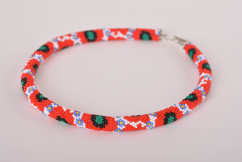 Handmade jewelry stylish necklace beaded cord necklase designer accessory  photo 1