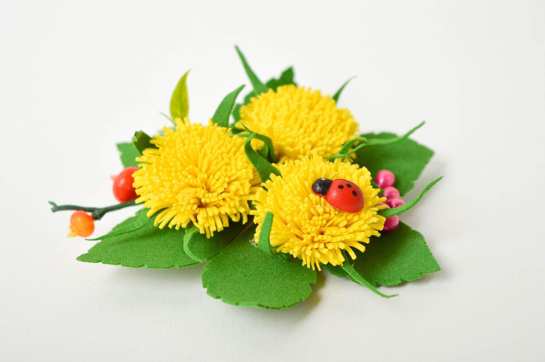 Handmade Blume Haarspange Damen Modeschmuck Accessoire für Haare Mode Accessoire foto 4