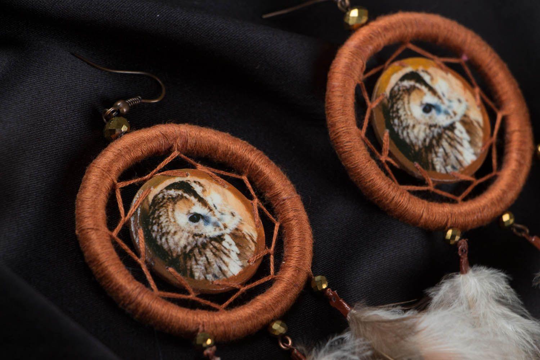 Earrings of unusual shape Dreamcatcher photo 3