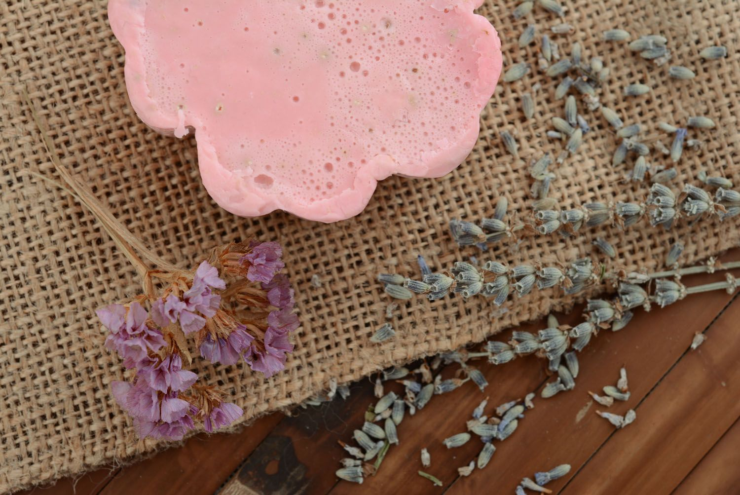 Soap with pink clay photo 2