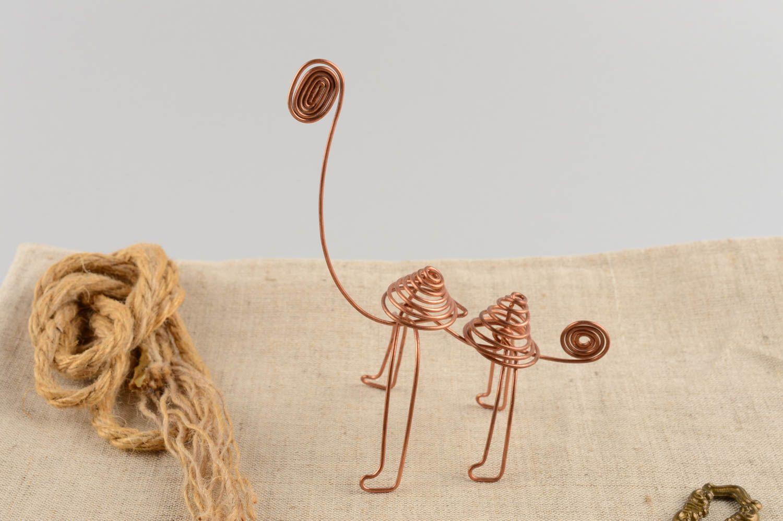 MADEHEART > Figura decorativa original de alambre de cobre hermosa ...