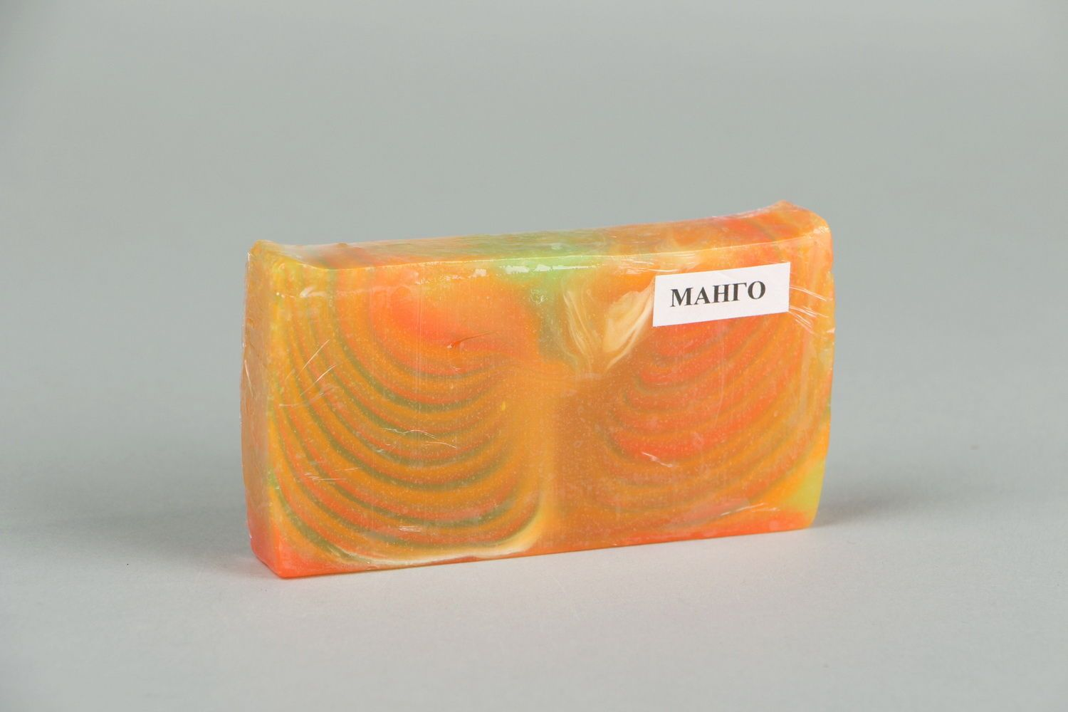 Handmade soap with the scent of mango photo 1