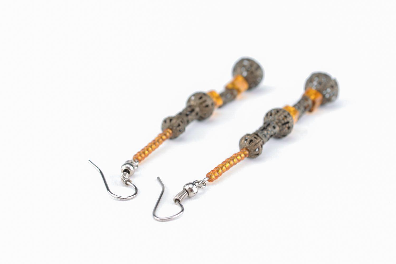 Long earrings of unusual design photo 1