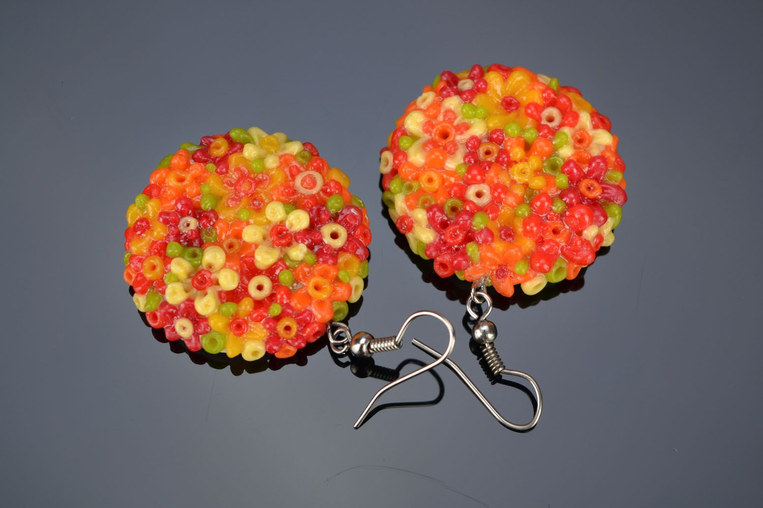 Earrings made of polymer clay photo 1