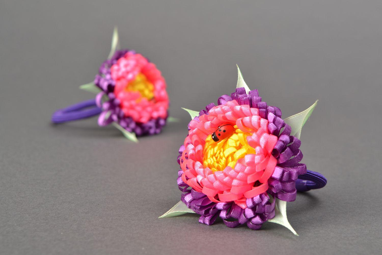 Satin ribbon hair tie Ladybug photo 1