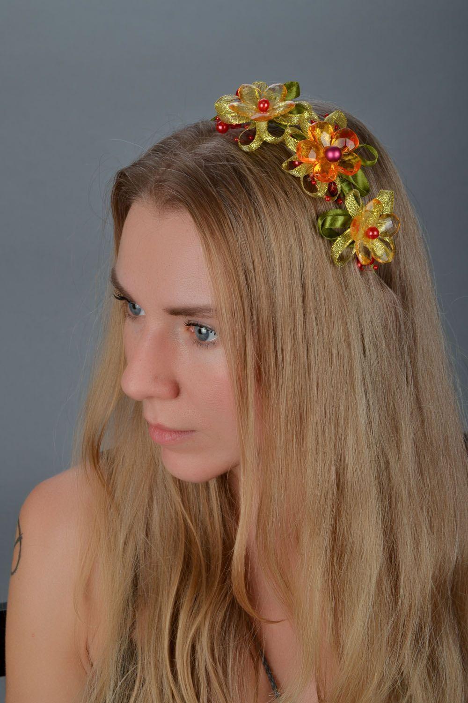 Обруч для волос из органзы фото 1