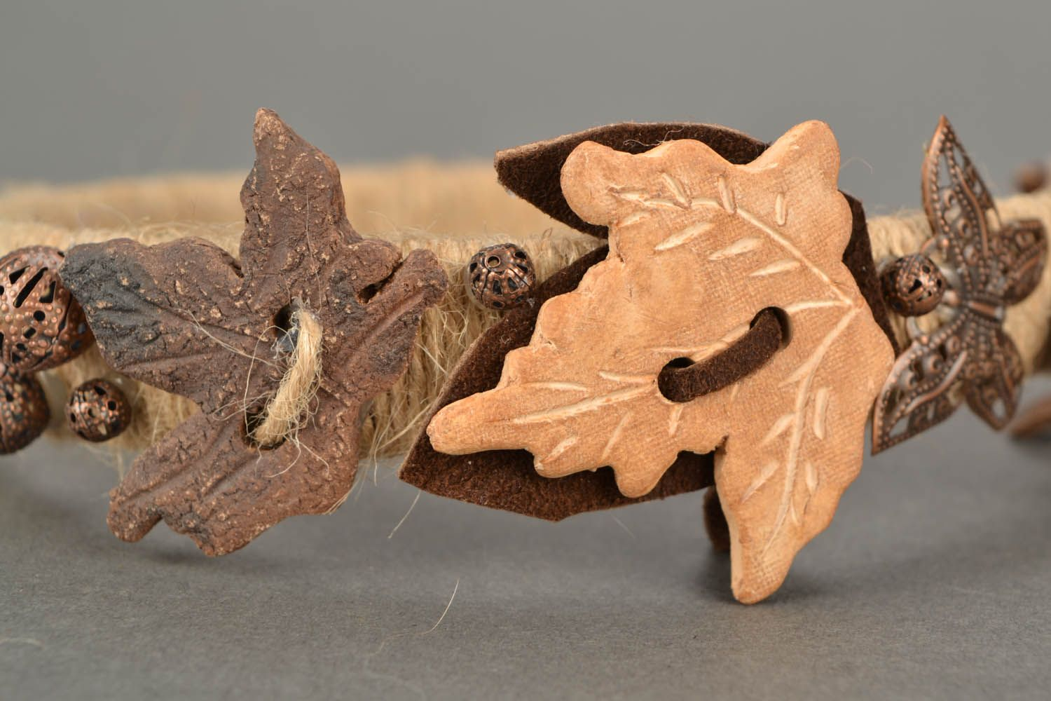 Hairband with leather insets photo 5