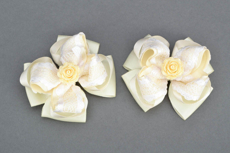 Hair clip set Creamy Rose photo 3