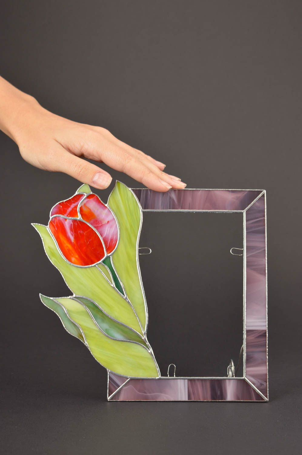 Unusual handmade photo frame glass art frame for photo home decoration photo 5