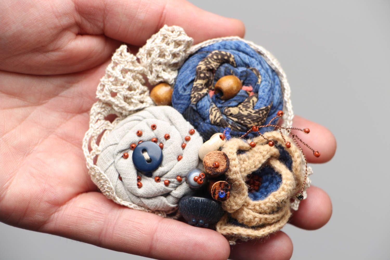 Unusual fabric brooch Winter Still Life photo 4