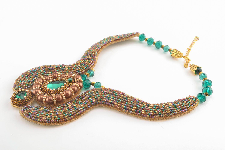 Beautiful beaded necklace photo 1