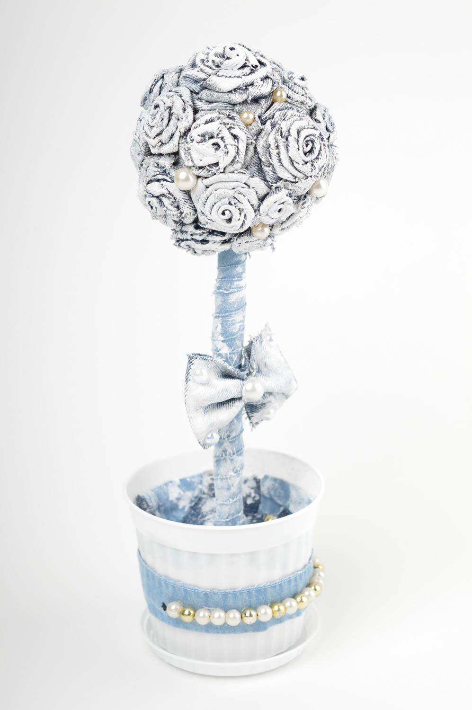 White handmade topiary tree designer jeans tree decorative use only nice present photo 2