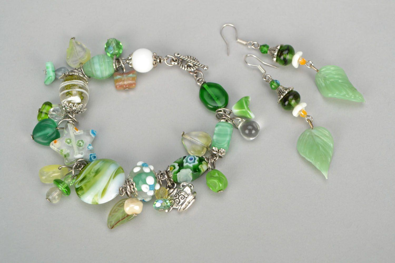 Set of glass jewelry photo 3