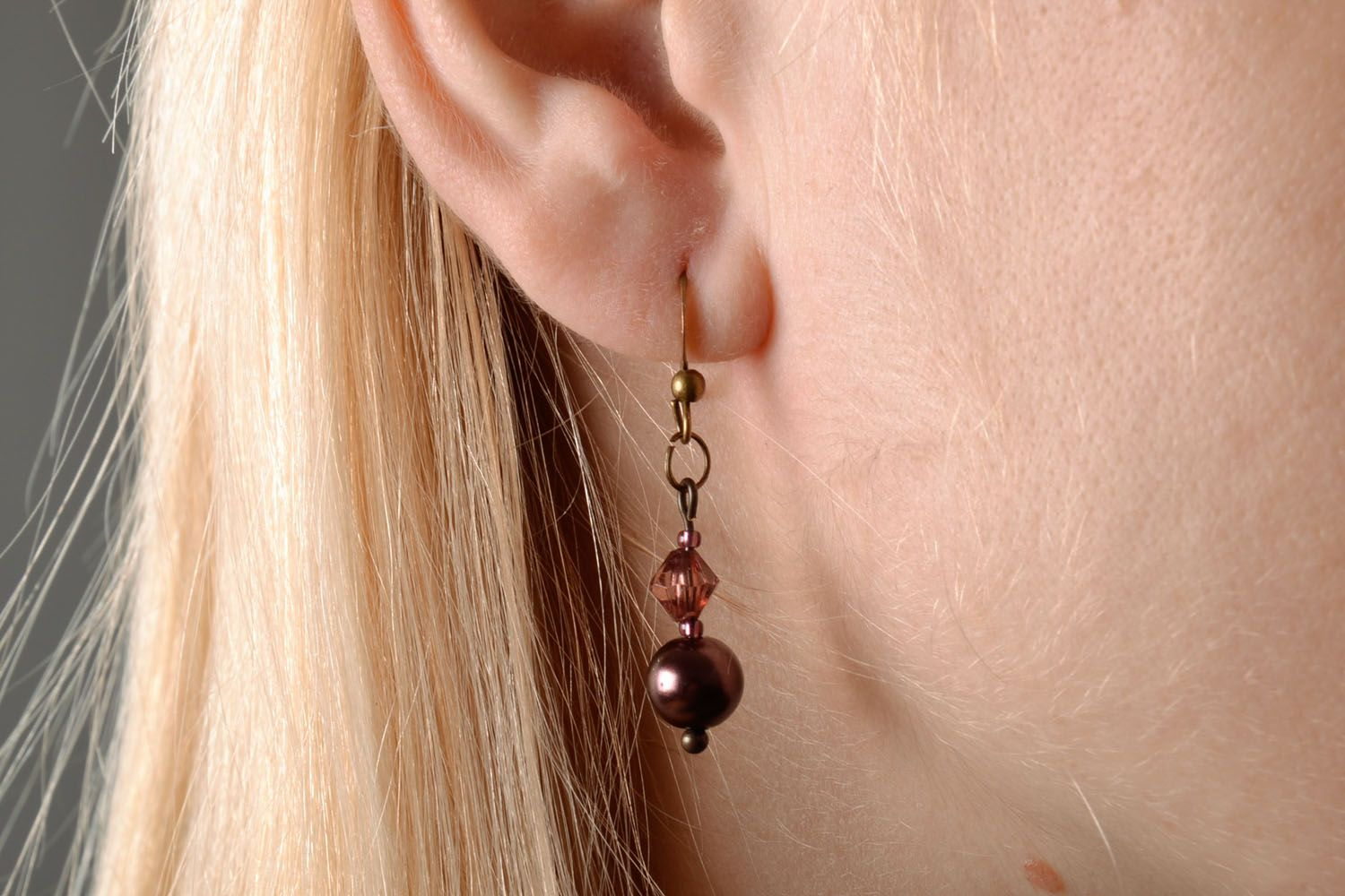 Earrings with beads photo 5