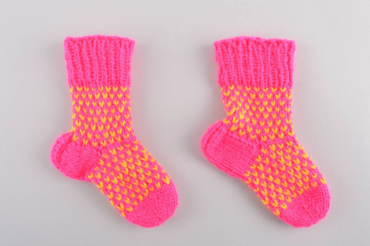 Handmade knitted baby socks winter socks winter accessories present for kid - MADEheart.com
