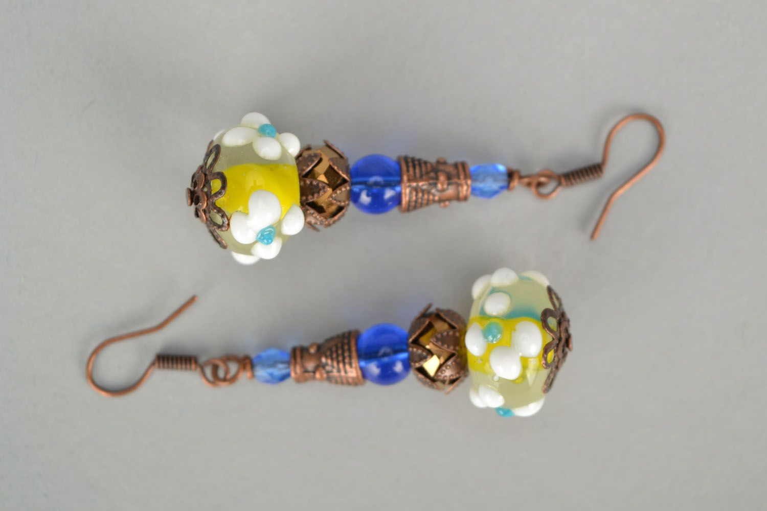 Designer glass earrings photo 3