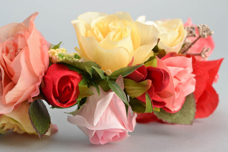 Венок на голову ручной работы с цветами Розы фото 4