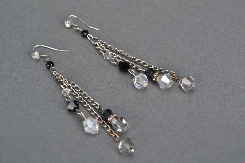 Long beaded earrings photo 3
