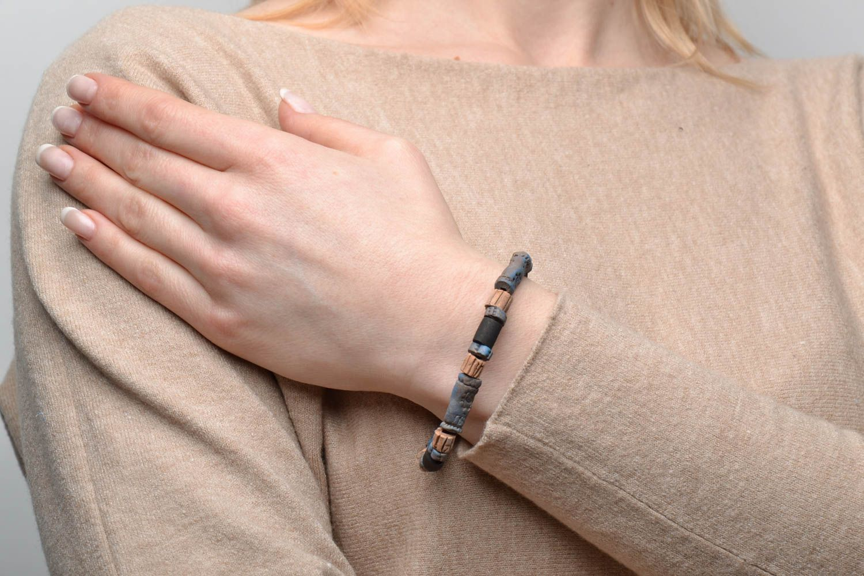 Ceramic bracelet in ethnic style photo 2