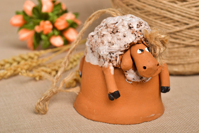 Handmade beautiful figurine ceramic lovely souvenir designer painted accessory photo 1