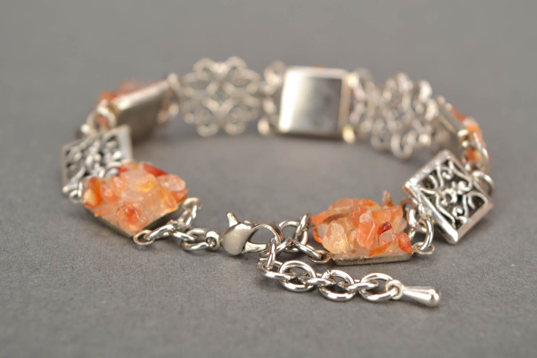 Handmade carnelian bracelet photo 5