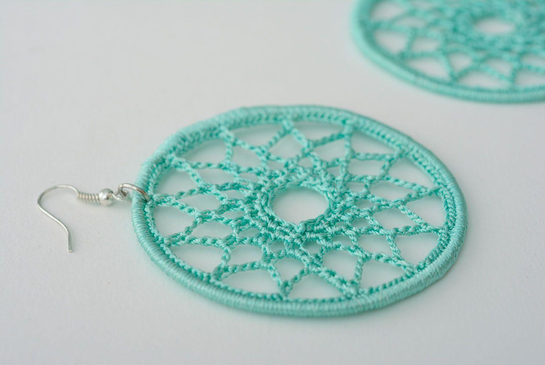 Lace earrings Mint photo 4