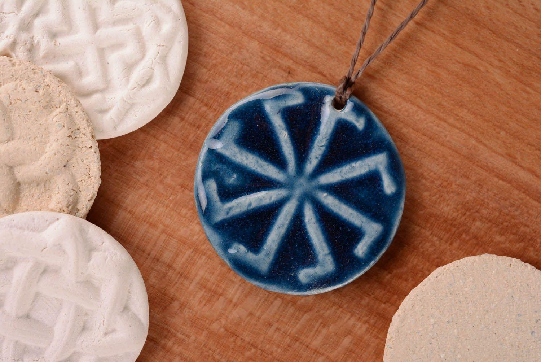 Ceramic pendant amulet Ladinets photo 1