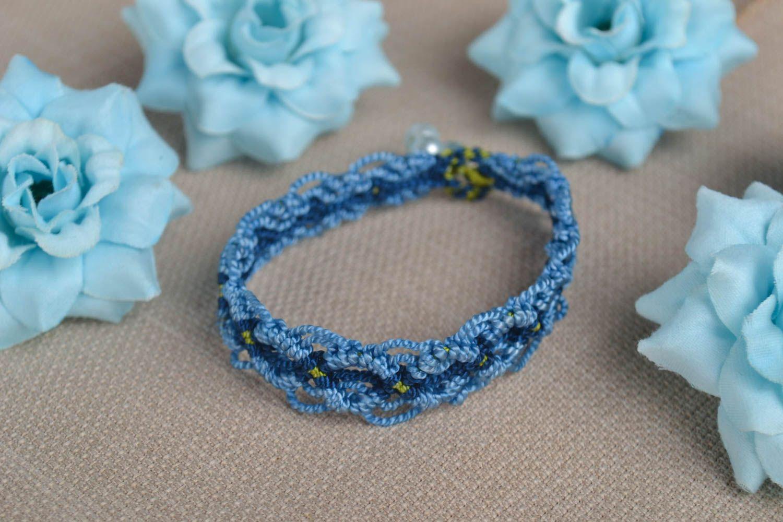 Модный браслет ручной работы браслет на руку дизайнерское украшение синий фото 1