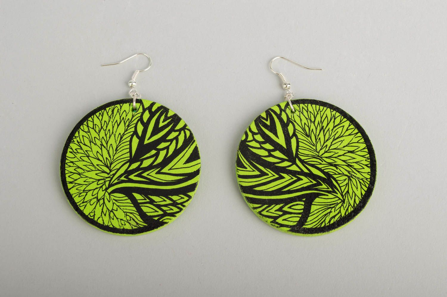 Fashion jewelry handmade earrings wooden jewelry designer accessories gift ideas photo 2