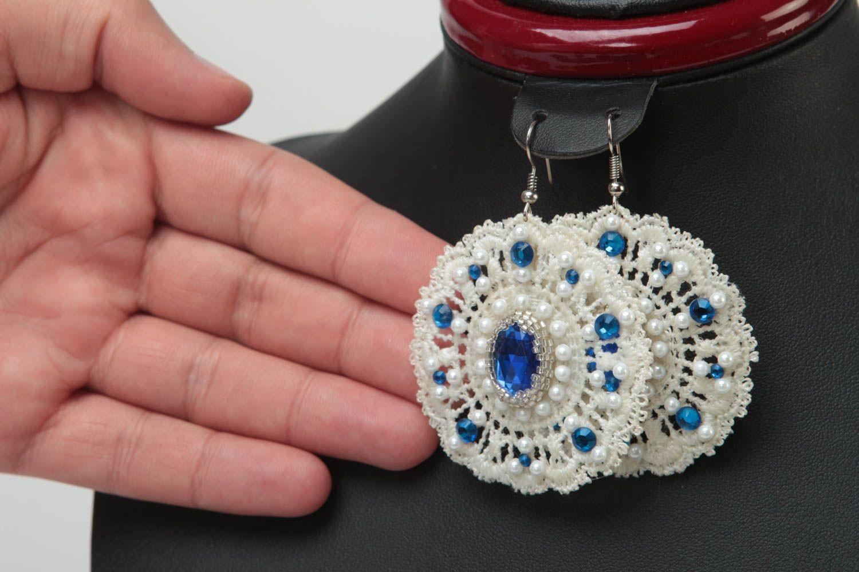 Серьги ручной работы серьги из бисера модные серьги дизайнерское украшение фото 5